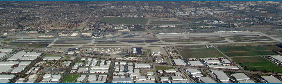 Aerial view of ontario international airport